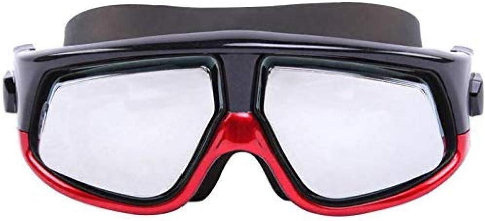 fyhtydsr Gafas de natación Profesional HD Anti-Fog Miopía Gafas de natación Protección UV Big Goggles Equipos para Hombres Mujeres Adultos