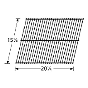 Music City Metals 59001 Porcelain Steel Wire Cooking Grid Replacement for Select Charmglow Gas Grill Models