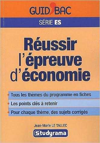 Livres gratuits Réussir l'épreuve d'économie : Terminale ES epub, pdf