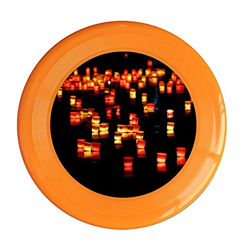 (Skkoka Frisbee Mid-Autumn Festival In The River Lantern Love Blessing Candle Long Exposure Light Serenade Frisbee Family Fun Group Game Variety Of Colors Durable Frisbee Orange)