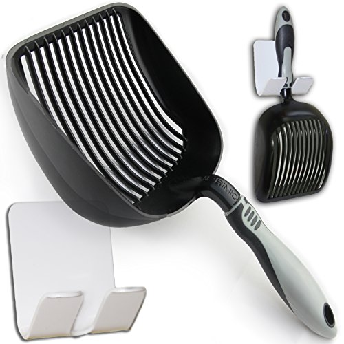 Sifter with Deep Shovel - Designed by Cat Owners - Non Stick Plated, Antimircrobial, Solid Aluminum.