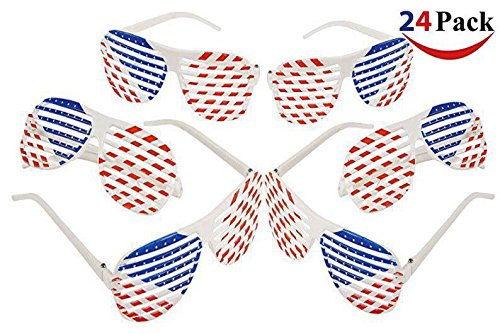 Wrap Shutter (Fun Express Patriotic Shutter Shading Glasses (2 Dozen) (2))