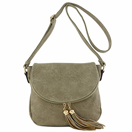 Flap Crossbody With Top Bag Tassel Stone Accent 8qIZ77