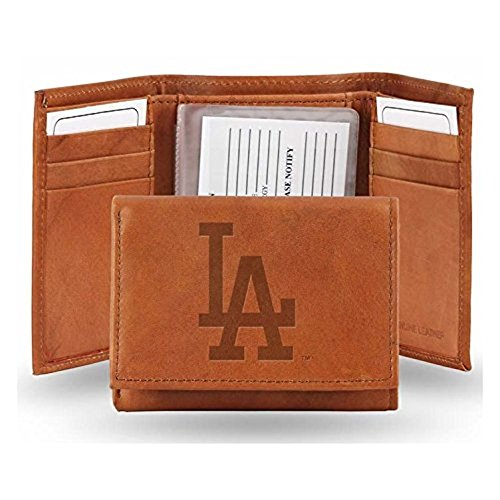 Los Angeles Dodgers Official MLB Leather Trifold (Los Angeles Dodgers Leather)
