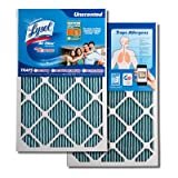 Lysol Triple Protection Air Conditioner / Furnace Air Filter, 22' x 22' x 1', (4-Pack)