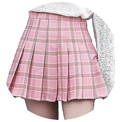 Women Fashion high Waist Pleated Skirt Wind Cosplay Plaid Skirt Kawaii Female Skirts