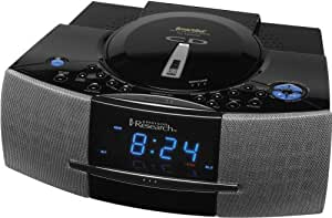 Emerson CKD5811 SmartSet Digital Tuning CD-R/RW Stereo Clock Radio with Touchless Snooze Control (Silver) (Discontinued by Manufacturer)