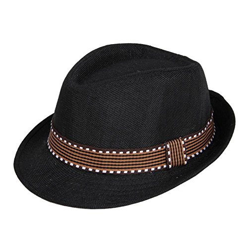 Black Dance Fedoras Sun Kids Jazz Hats T2-134