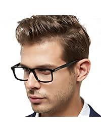 OCCI CHIARI Mens Rectangle Fashion Stylish Acetate Eyewear Frame with Clear Lens 51mm