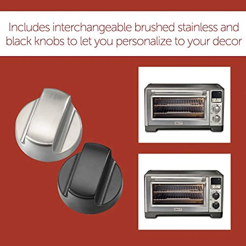 Wolf Gourmet Elite Digital Countertop Convection Toaster Oven with Temperature Probe and seven Cooking Modes, Stainless Steel, Silver Knobs with Black Knob equipment (WGCO170SR)