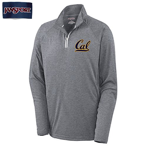 UC Berkeley Cal Jansport 1/4 Zip Sweatshirt-Charcoal (Berkeley Cal Sweatshirt)