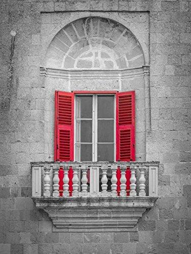 "Traditional Maltese balcony, Mdina, Malta by Assaf Frank - 14"" x 18"" Giclee Canvas Art Print"