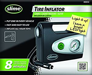 amazoncom slime   volt tire inflator  gauge  light automotive