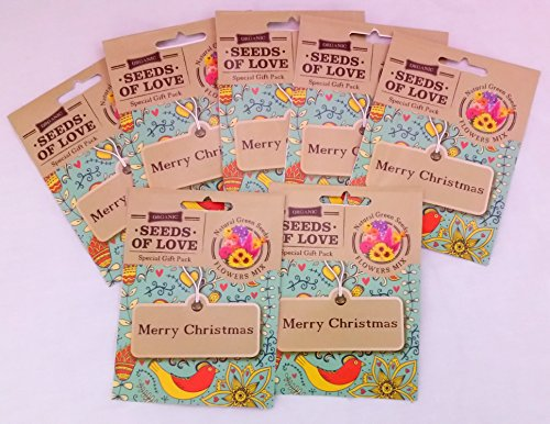 Christmas Greeting Cards Contain organic SEEDS of love, Awesome and unique gift for your lovers comes with a special Gift Box (Black And White Wedding Programs compare prices)