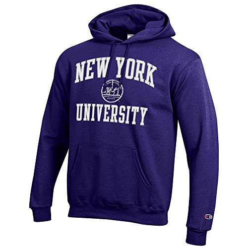 New York University Violets Hooded Sweatshirt Seal Purple   Xl