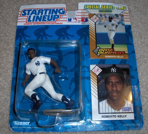 1993 - Kenner - Starting Lineup - MLB - Special Series - Roberto Kelly #39 - New York Yankees - w/ Trading card & Base Burners Card - Limited Edition - Collectible