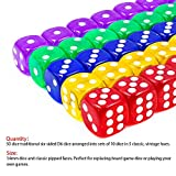 50-Pack 14MM Translucent & Solid 6-Sided Game