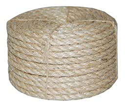 T.W . Evans Cordage 23-210 1/4-Inch by 100-Feet Twisted Sisal Rope