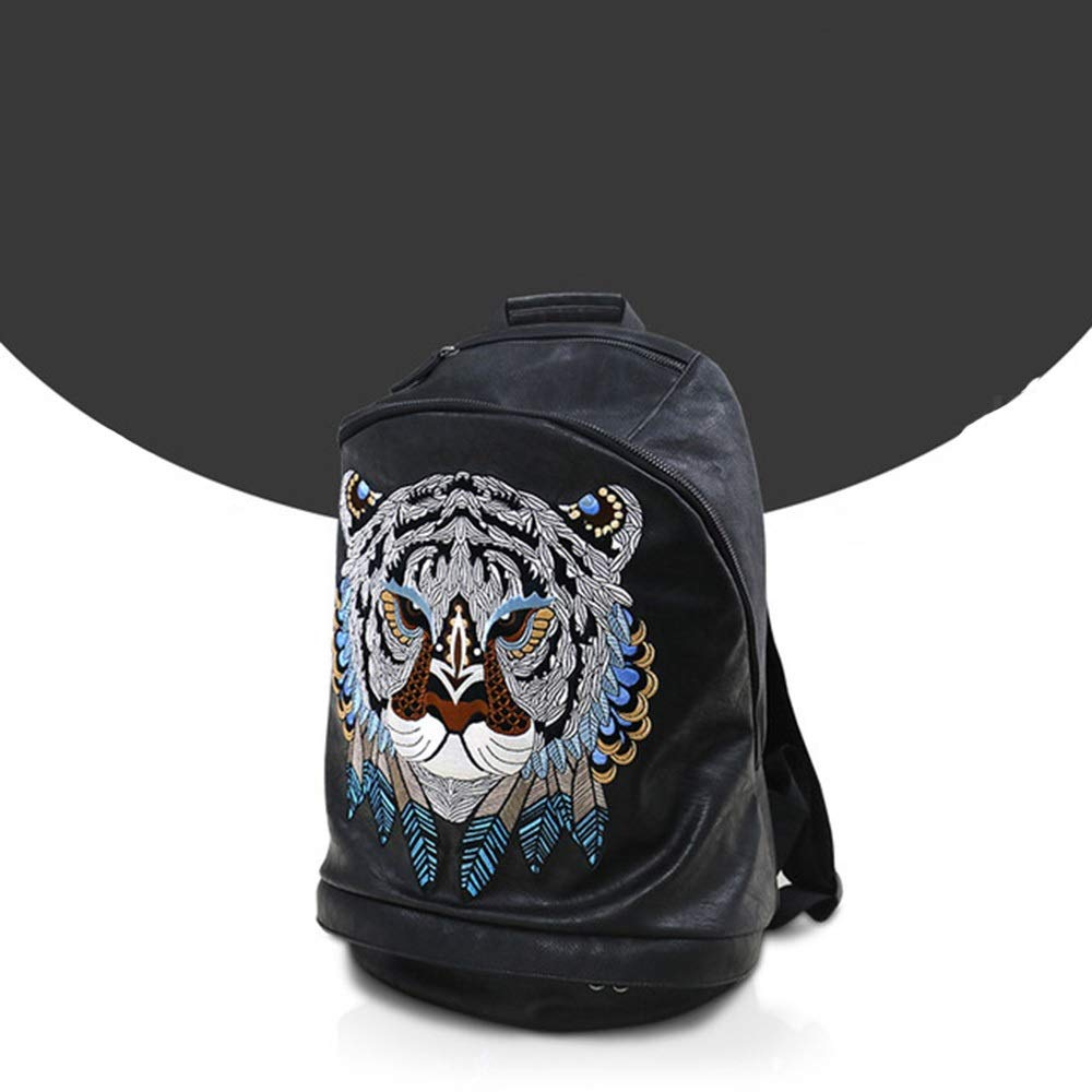 Zhengtufuzhuang Well-Made Suitable for Laptop Backpacks, Lion Artisan Quality Personalized Embroidery Backpack Large Capacity Size: 301845cm Novel Style by Zhengtufuzhuang
