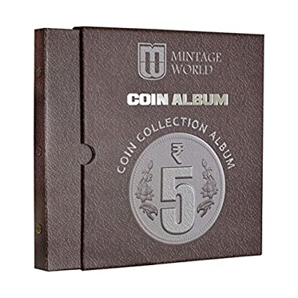 6eda8db8 MW Mintage World Coin Collection Album for 5 Rupees Definitive Coins - Brown