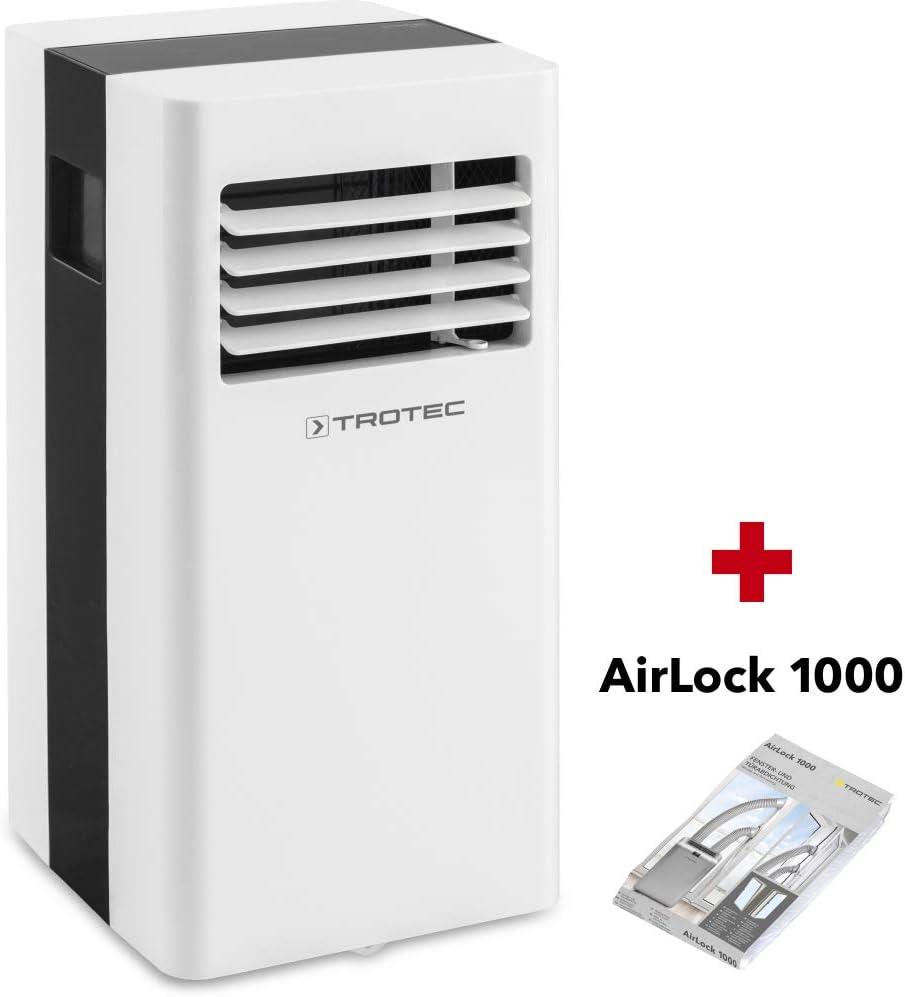 TROTEC Aire Acondicionado Portátil monobloque PAC 2100 X / 3 en 1: Refrigeración, Ventilación y Deshumidificación/Purificación de Aire/Isolación de Ventana AirLock ...