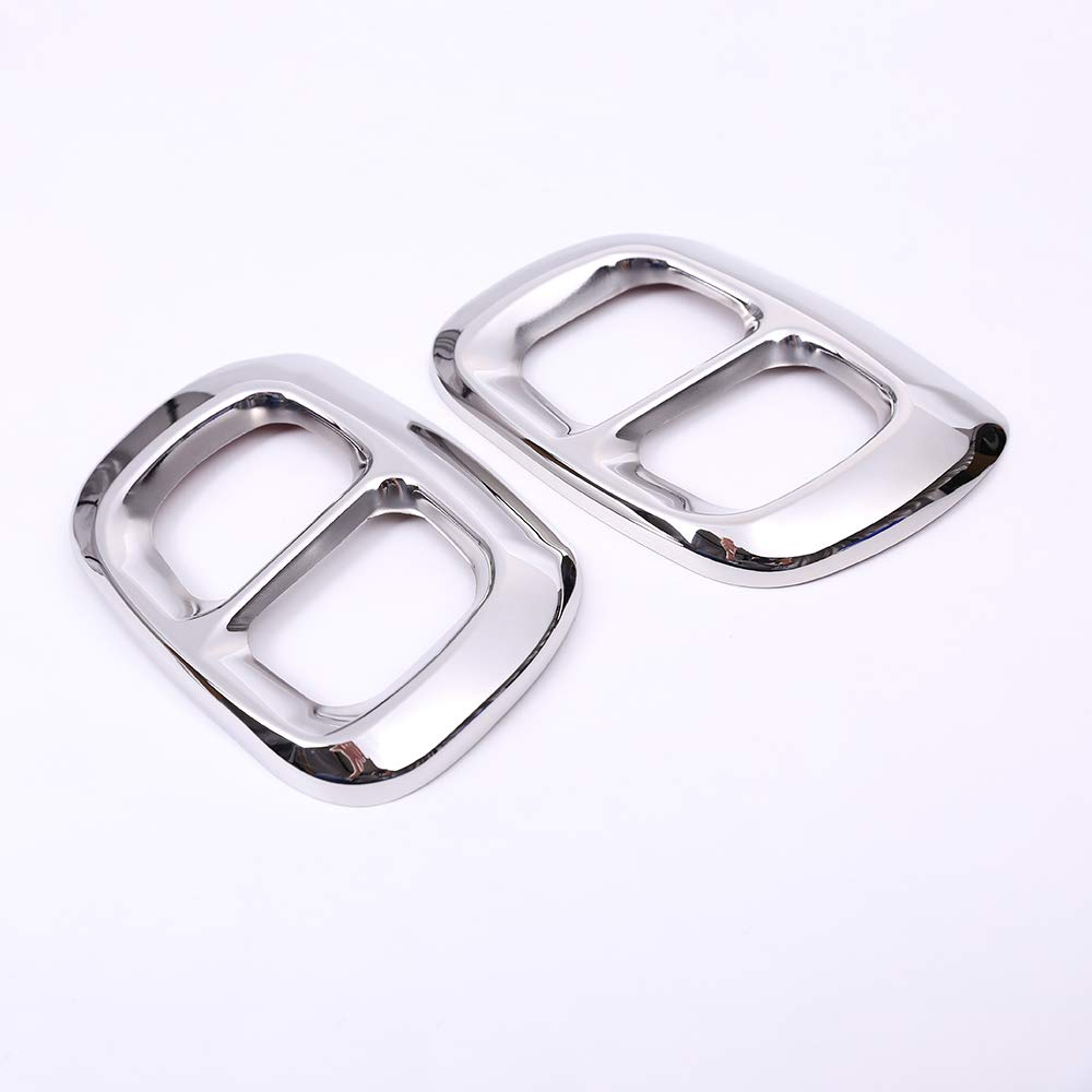 silver 2pcs Glossy Black//silver 304 Stainless Steel Car Exhaust Tail Pipe Cover Trim For Mercedes Benz GLA X156 2015-2019