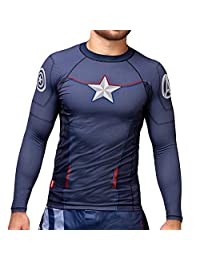 Hayabusa Mens Marvel Hero Elitte Long Sleeve Jiu Jitsu Rash Guard