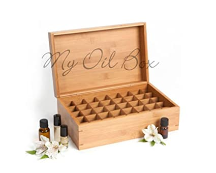 My Oil Box: Bamboo Storage Box For Essential Oils