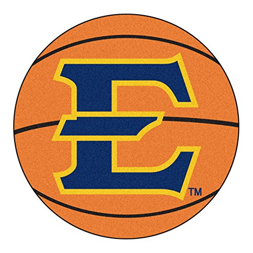 Tennessee State Basketball Rugs (NCAA East Tennessee State University Buccaneers Basketball Shaped Mat Area Rug)