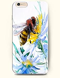 SevenArc Hard Phone Case for Apple iPhone 6 Plus ( iPhone 6 + )( 5.5 inches) - Bee On The Flower - Oil Painting