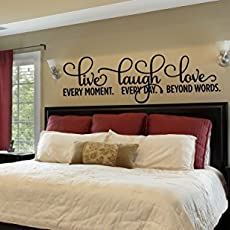 Bedroom Wall Decals, Live Laugh Love Quote Wall Decals Bedroom, Wall Decor.