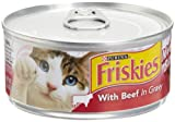 Friskies Cat Food Meaty Bits with Beef in Gravy, 5.5-Ounce Cans (Pack of 24), My Pet Supplies