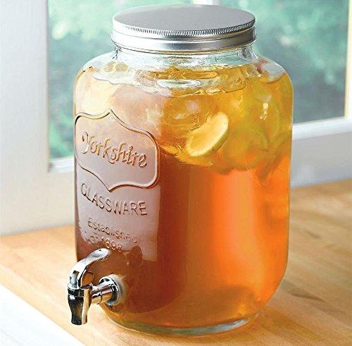 Circleware Sun Tea Mason Jar Glass Beverage Dispenser With