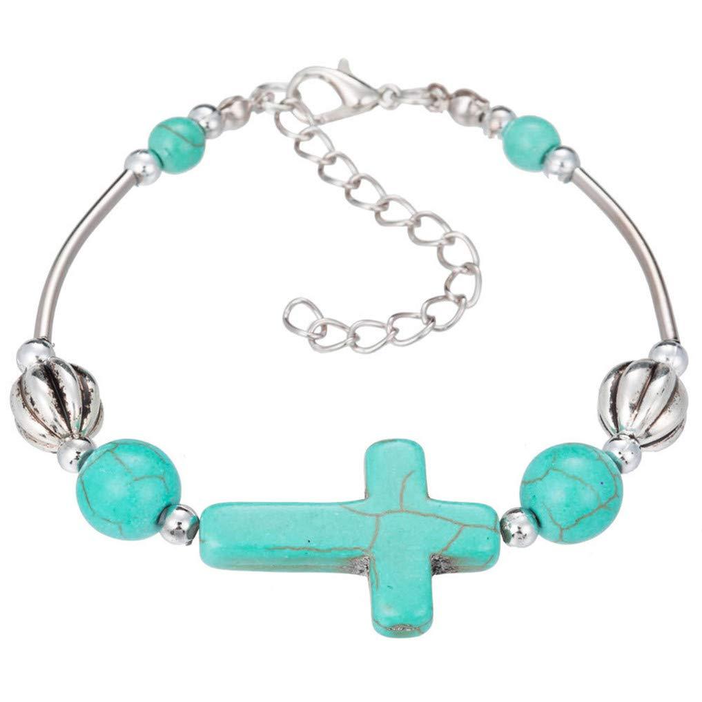 Myhouse Bohemian Turquoise Hand Beaded Bracelet Beautiful for Women My_house