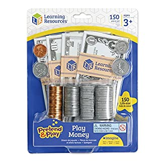 Learning Resources Pretend and Play, Play Money, Counting, Math, Currency, 150 Pieces, Ages 3+