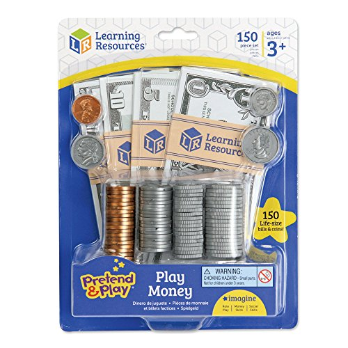 - Learning Resources Pretend and Play, Play Money, Counting, Math, Currency, 150 Pieces, Ages 3+