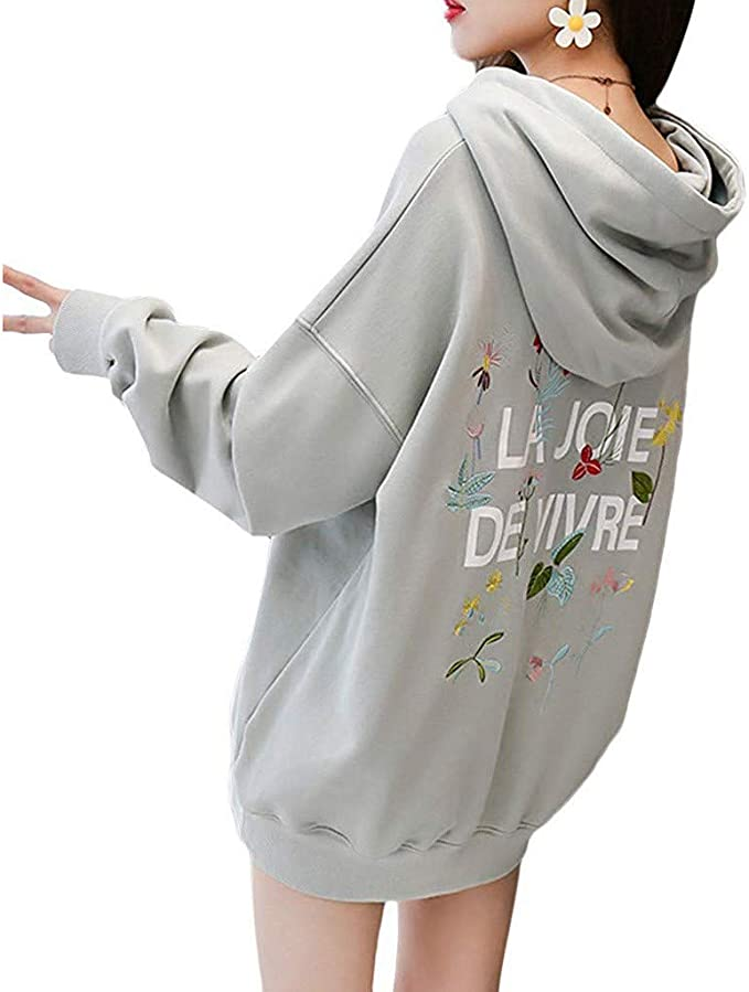 Damen Langarm Kapuzenpullover Hoodie Sweatshirt Pullover Sweatjacke Outwear Tops