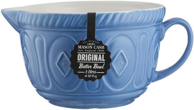 Ceramic 26 x 19.7 x 13 cm Mason Cash Colour Chip Resistant Earthenware Batter Mixing Bowl-Cream