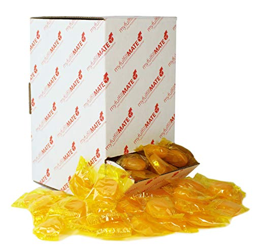 Sunrise Butterscotch Discs Buttons, Individually Wrapped Bulk Candy, with Dispenser Box (2.25 Pounds - 192 Count)