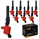 f150 coil overs - Pack of 8 High Performance Red Ignition Coil for Ford Lincoln Mercury 4.6L 5.4L V8 DG508 C1454 C1417 FD503(Not fit 2004 f150 with 5.4l triton)
