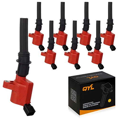 8Pcs High Performance Ignition Coil Pack Replacement for Ford F150 F250 F350 Lincoln Mercury 4.6L 5.4L V8 DG508 C1454 FD503 Red ()
