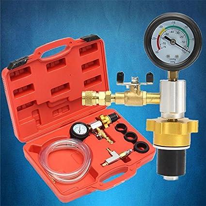 Herramienta para rellenar y purgar el refrigerante del automóvil Refrigeración del radiador del coche automático Sistema de enfriamiento del vacío Kit de ...