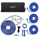 Skar Audio SK-M9005D 900 Watt 5-Channel Car Amplifier with 8 Gauge OFC Amp Wiring Kit Bundle