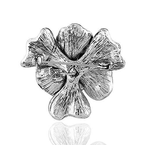 DaoRier Brosche Pin Strass Ansteckernadel Sicherheitsnadel Vintage schwarze Blumen f/ür Frauen Kleid Kleidung Dekorative Pin