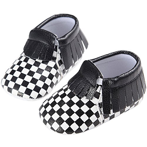 etrack-online Piel Sintética Infant Toddler Lunares Mocasín Zapatos de Cuna D Talla:12-18 mes A