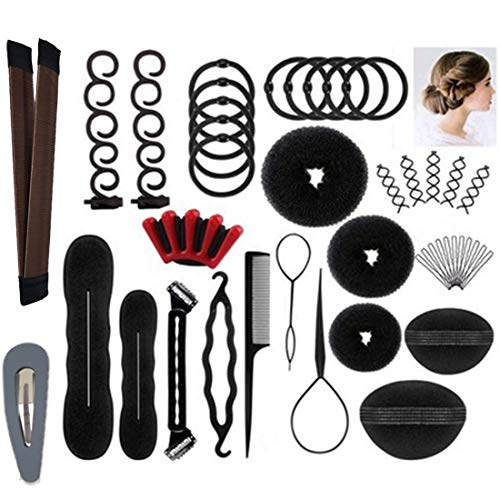 Hair Styling Accessories Kit Set for DIY,Magic Simple Fast Spiral Hair Braid Hair Tool,Hairdresser Design Kit