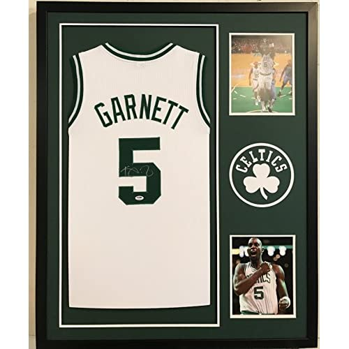 new arrival b63a3 9c1d1 Kevin Garnett Autographed Custom Framed Boston Celtics ...