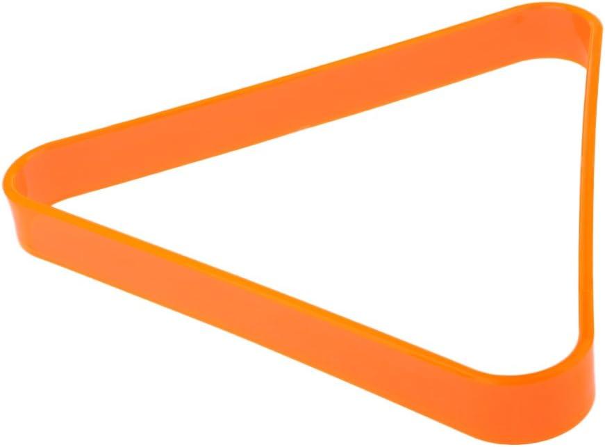 MagiDeal - Accesorio para Mesa de Billar o Piscina, 8 Botellas, triángulo de plástico, con Capacidad para Bolas de tamaño estándar de 2 a 1/4