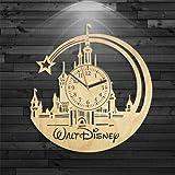 Walt Disney Wood Clock, Disney Wood Clock, Mickey Mouse Gift For Girl, Bambi Birthday Gift, Walt Disney Clock, Cinderella Wall Clock Modern, Cartoon Gift For Kids, Alice In Wonderland Clock