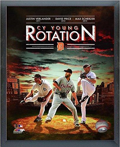 Justin Verlander, David Price, Max Scherzer Detroit Tigers 2014 MLB Photo (Size: 17